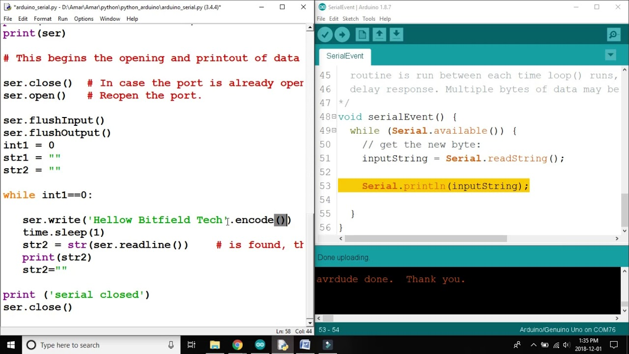Python Arduino communication -Removing extra 'b' character from string