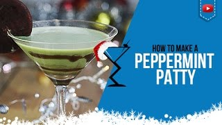 Christmas Cocktails - Peppermint Patty Cocktail & Shot - How to make Peppermint Patty Drink Recipe