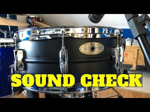 Soundcheck/review Caixa Pearl Sensitone BLACK 14x5,5 de metal - Guimadrum LIVE
