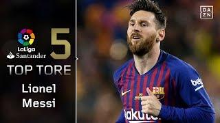 Top 5: Lionel Messis schönste Tore der Saison | Highlights | LaLiga | DAZN Top 5 Tore