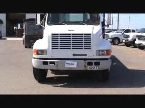 Sold! for $3,400. International Navistar 4700 S/A Flatbed Truck DT408 Diesel bidadoo.com