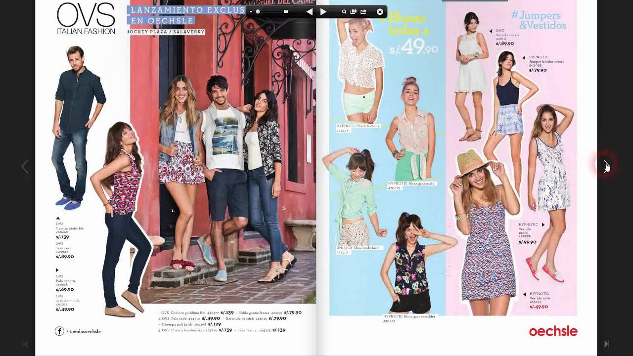 Catalogo de ropa oechsle primavera verano 14 15 youtube for Catalogo tapicerias para sofas