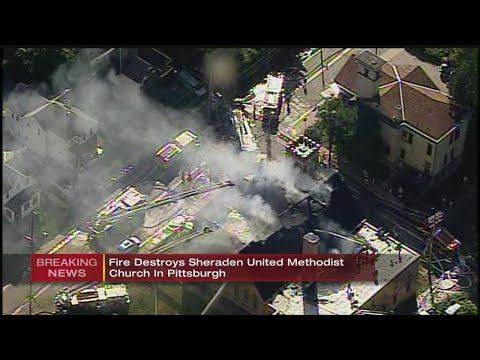 Firefighter Taken To Hospital, Roof Collapses After Large Fire At Pittsburgh Church