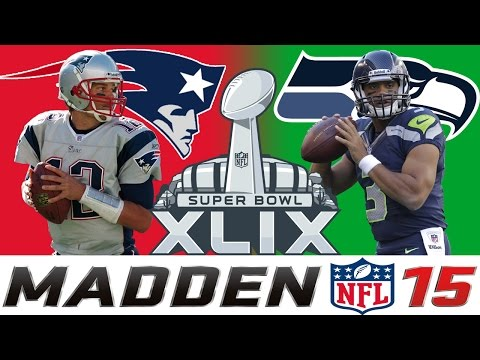 Super Bowl XLIX [1080p60] Seahawks vs Patriots || Full Game || Madden 15 Simulation