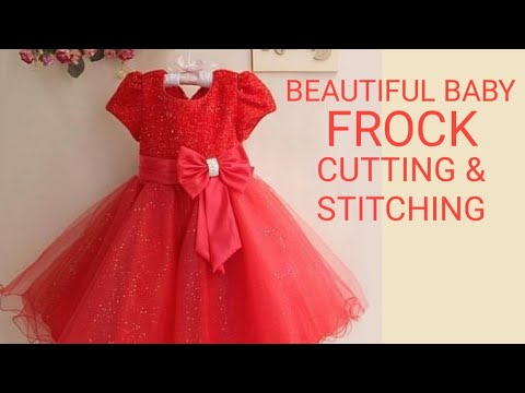 9ef6966e6 Designer Baby frock cutting and stitching in hindi for 6 month to 1 year  old baby