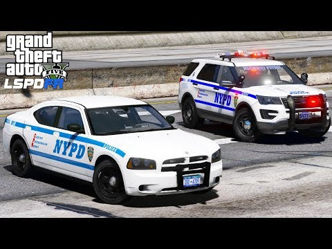 GTA 5 LSPDFR #491 | NYPD Highway Patrol Catching Speeders | New York City Police Department
