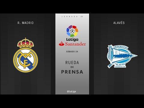 Rueda de prensa R. Madrid vs Alavés