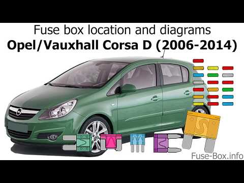 fuse box location and diagrams: opel / vauxhall corsa d (2006-2014) -  youtube