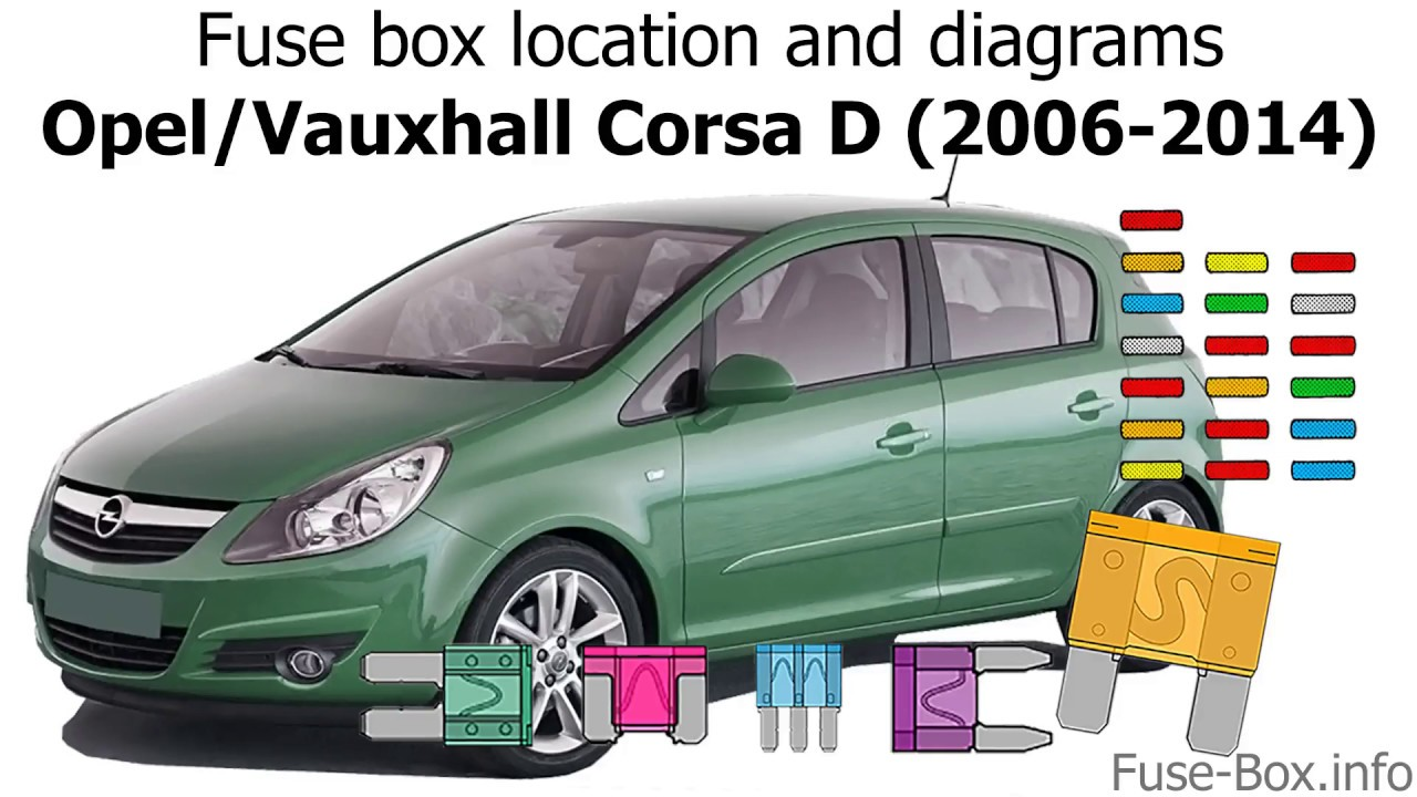 fuse box location and diagrams: opel / vauxhall corsa d (2006-2014)