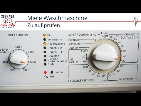 Miele Waschmaschine Zulauf Prüfen Youtube