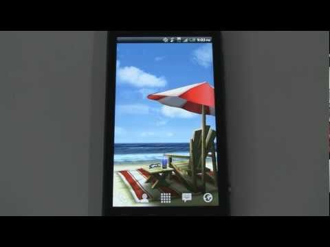 My Beach HD Android Live Wallpaper  (reviewed on HTC EVO 3D)