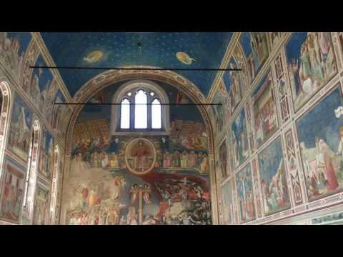 Giotto's Frescos in The Scrovegni Chapel, Padova, Veneto, Italy