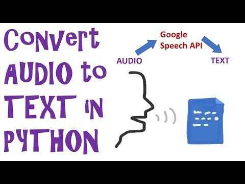 Convert an AUDIO FILE into TEXT using Google Speech Recognition in