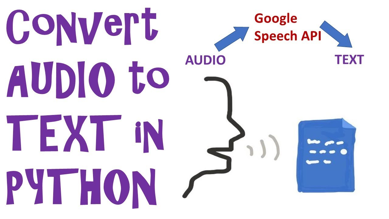 Convert an AUDIO FILE into TEXT using Google Speech Recognition in Python