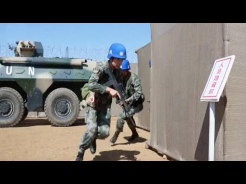 Chinese peacekeepers in training ahead of UN mission in Mali
