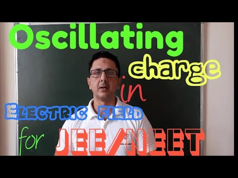 Oscillating charge in Electric field....for JEE/NEET