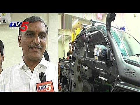 Harish Rao Launches Sky Automotive Design Store at Jubilee Hills | TV5 News