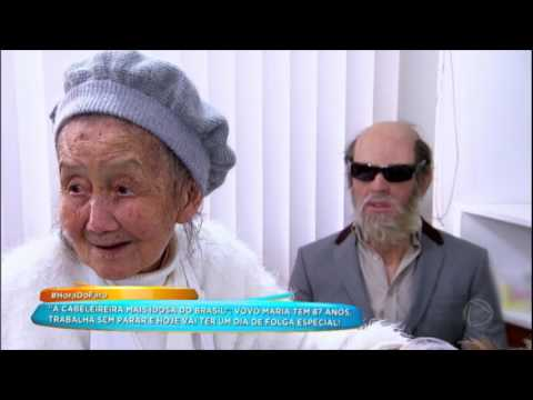 Rodrigo Faro Faz Surpresa Para Vovó Maria, A Cabeleireira Mais Velha Do Brasil