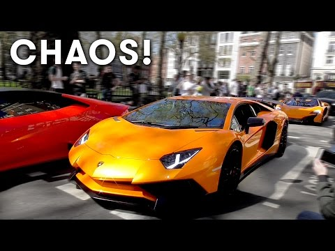 Supercars Chaos in Central London April 2017 Part 3