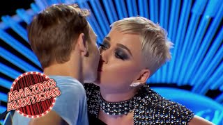 Baixar KATY PERRY Shares FIRST EVER KISS With American Idol Contestant | Amazing Auditions