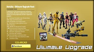 The 'Ultimate Upgrade' Founders Pack!! | Fortnite: Save the World 'Ultimate Edition' Showcase