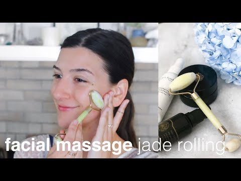 Facial Masssage with Jade Rollers   Clean, Green Beauty
