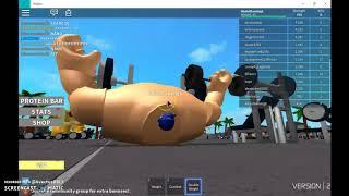 Proprietà Roblox . Simulatore di sollevamento del peso Parte 1