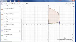Geogebra tutorials part 13  Rigid polygon and Vector polygon Tools usage