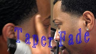 How To Temple TAPER FADE Yourself with Waves