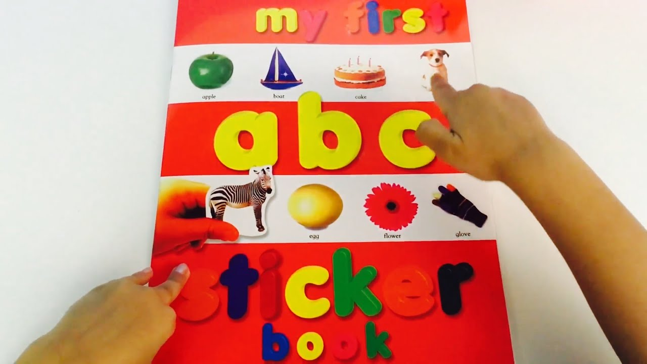 My First Alphabet LEARN abc Sticker Activity Book Recognise