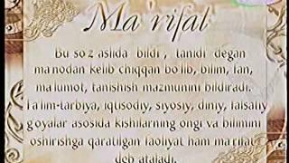 """O'zbek tili - Izohli lugat """"ma'rifat"""" [42]"""