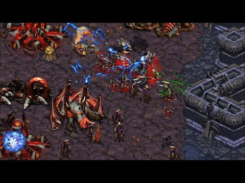 Larva(Z) vs Mini(P) practicando para la ASL en Gladiator - Starcraft remastered