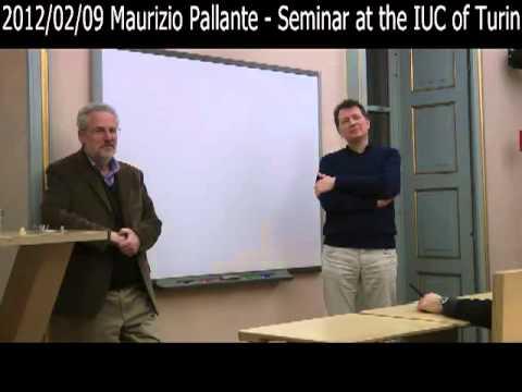 2012/02/09 Maurizio Pallante - Seminar at the IUC of Turin