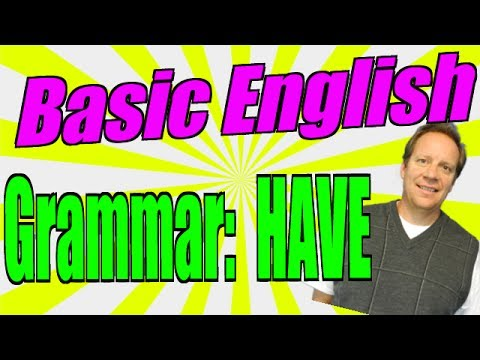 Basic English Grammar With HAVE, HAS, HAD, HAVING AND MORE! Great For Fluency!!