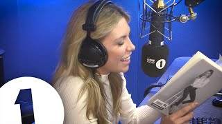 Abbey Clancy reads seductively from her new book