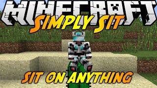 Minecraft Mods: SIMPLY SIT MOD (1.7.10) - SIT ANYWHERE