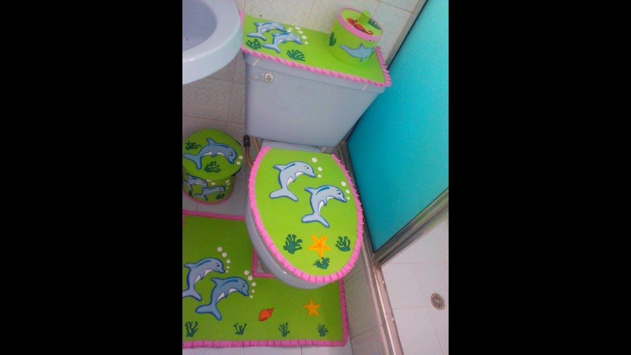 Juegos De Ir Al Baño A Hacer Popo:Juego de Baño en Goma Eva – YouTube