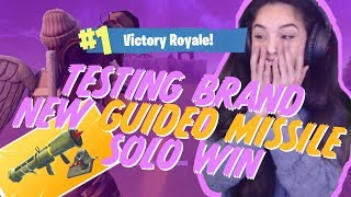 TESTING NEW GUIDED MISSILE SOLO WIN! Valkyrae Fortnite