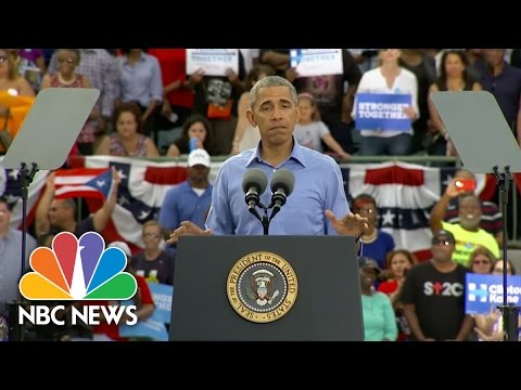 President Obama: Donald Trump 'Thought It Was OK To Lie' About N.C. Rally Incident | NBC News