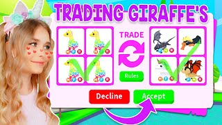 TRADING *GIRAFFES* ONLY In Adopt Me! (Roblox)