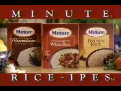 1995,-minute-rice-rice-ipes,-television-commercial