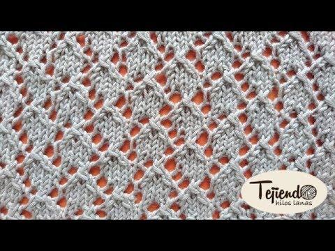 Punto de encaje tejido en dos agujas youtube - Labores punto dos agujas ...