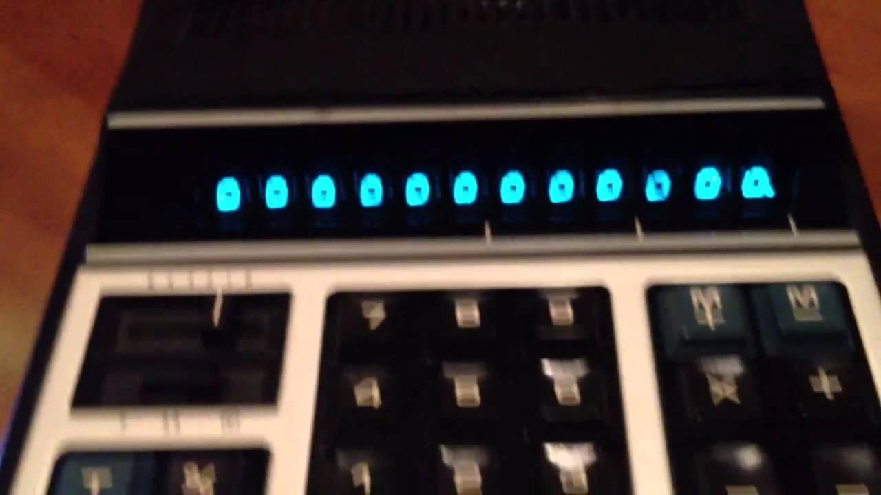 Vintage 1972 Casio 121 L Vfd Nixie Calculator Kalkulator Portable Printer Hr 8 Tm