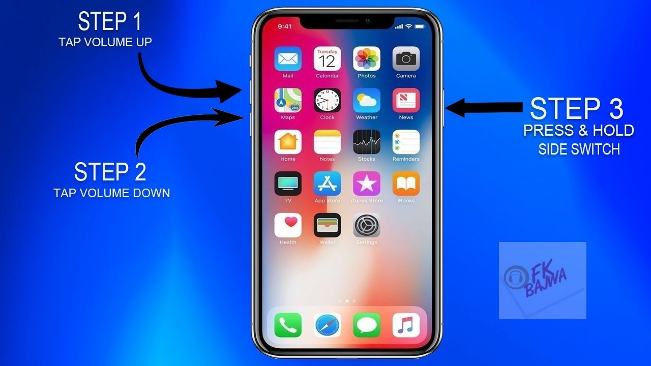 How to reset iphone xr when frozen