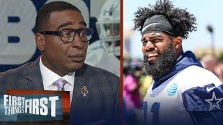 Cris Carter predicts Zeke could miss the first game this year for Cowboys | NFL | FIRST THINGS FIRST