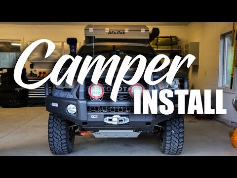 10 MINUTE TACOMA CAMPER INSTALL!!!