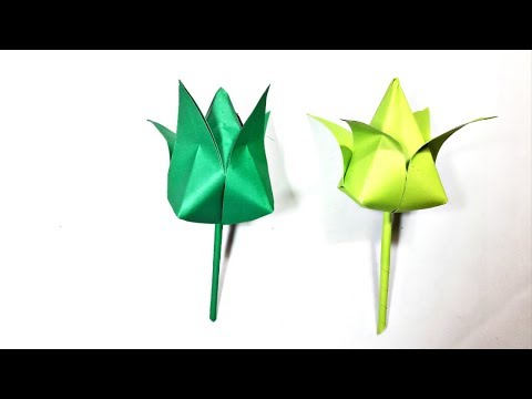 How To Make A Water Lily With Paper. Beautiful lotus..