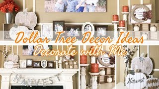 FALL DECOR 2019 | DECORATE WITH ME | DOLLAR TREE DIY