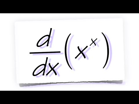 derivative of x^x