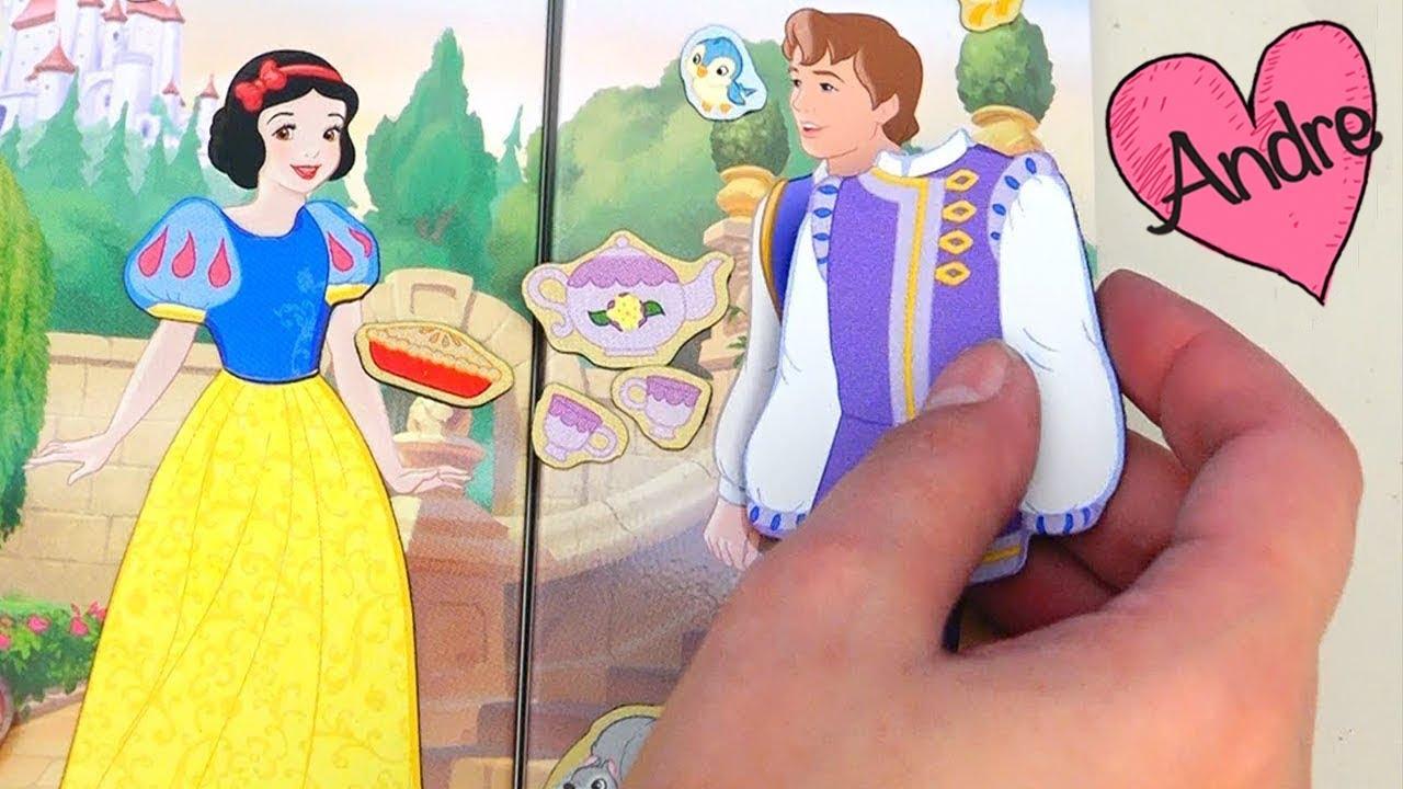 Juego Para Vestir Muñecas Princesas De Disney Con Imanes Juguetes Con Andre Para Niñas Y Niños Youtube